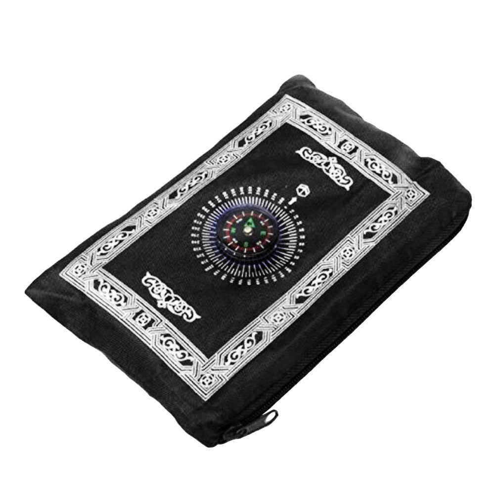 100 x60cm 5 farben Einfach Tragen mubarak Muslimischen Ramadan Gebet Teppich Matte Islamischen Für Tasche Folding Decke mit für Kompass