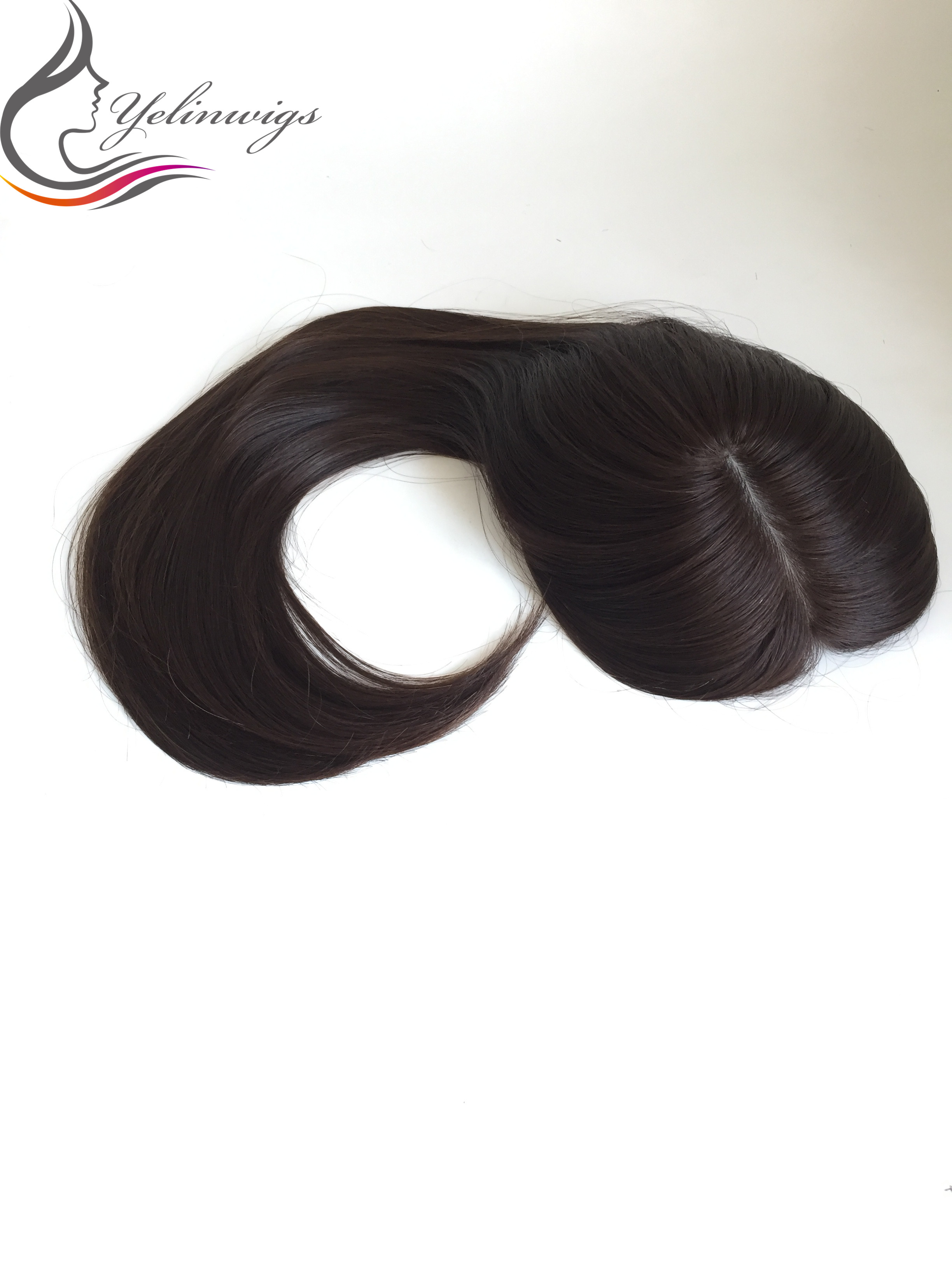 Natural Black Color Silk Top European Virgin Hair Toppers Kippah Fall For Jewish Women Hair Pieces