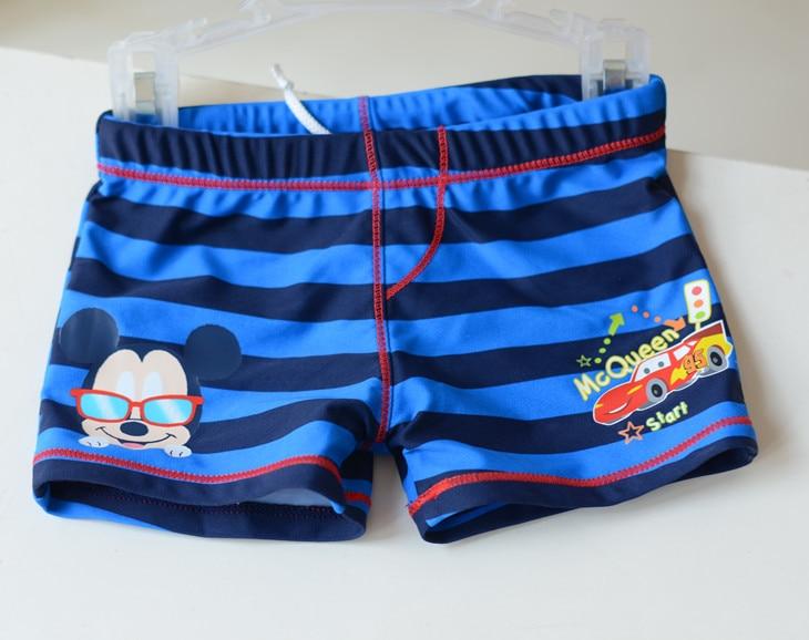 Micro Boy Dark Blue Bar Mickey Car Swimming Trunks Small Children KID'S Swimwear