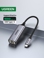 Ugreen USB C Ethernet USB-C to RJ45 Lan Adapter for MacBook Pro Samsung Galaxy S10/S9/Note 9 Type C Network Card USB Ethernet