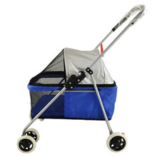 Pet Supplies Personality Fashion Four Wheel Cart Cat Dog  Outdoor Travel Small Pets Stroller Foldable Removable Washable