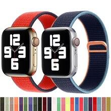 Nylon band for Apple watch strap 44mm 40mm 42mm 38mm smartwatch wristband belt sport loop bracelet iWatch  3 4 5 se 6 series