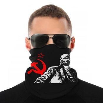 Шарф-Балаклава со звездами и полумаской для лица, Универсальная повязка на голову, для кемпинга, в стиле vir soviety, модная маска для лица, 2019 1