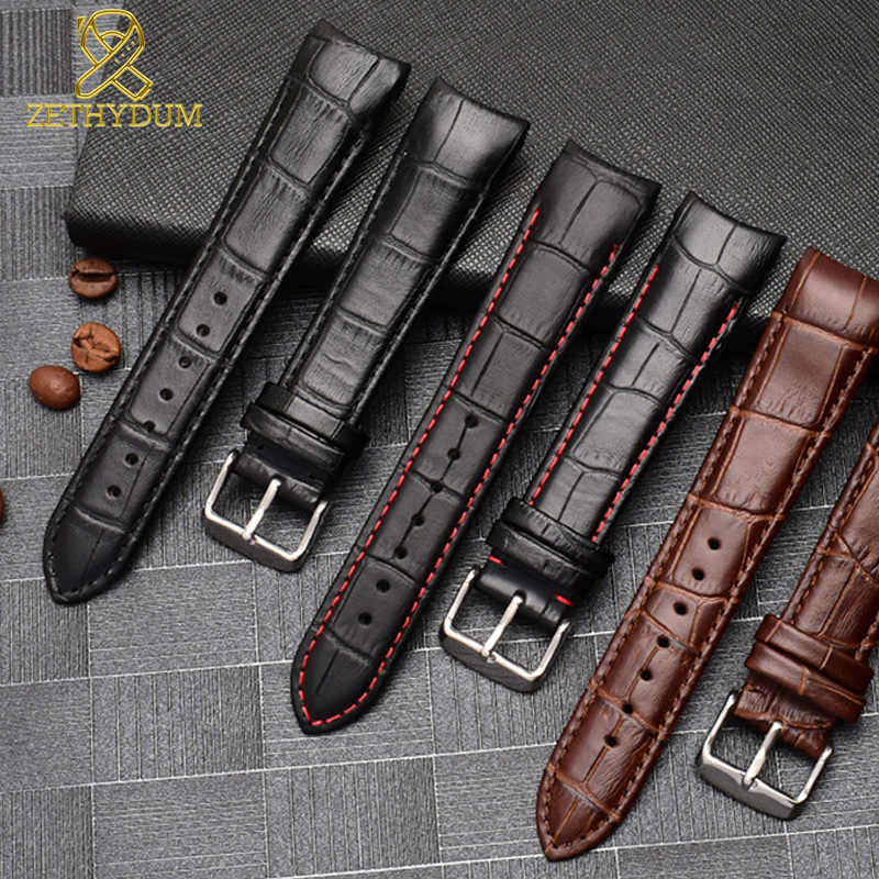 Kulit Asli Gelang Kurva Akhir Tali 20 Mm untuk BL9002-37 05A BT0001-12E 01A Watch Band 21 Mm Watchband 22 MM