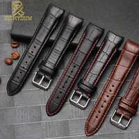 Echtes leder armband kurve ende armband 20mm für BL9002-37 05A BT0001-12E 01A uhr band 21mm armband 22mm