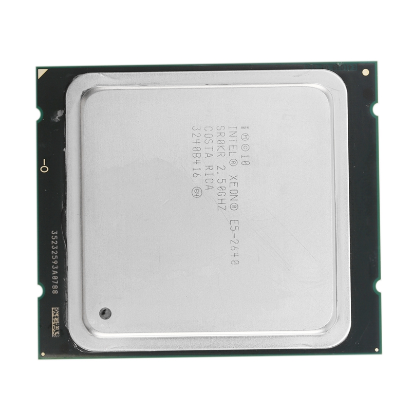 In tel Xeon <font><b>Processor</b></font> E5-2640 Six Core 15M Cache/<font><b>2.5</b></font>/<font><b>GHz</b></font>/8.00 GT/S 95W LGA 2011 E5 2640 image