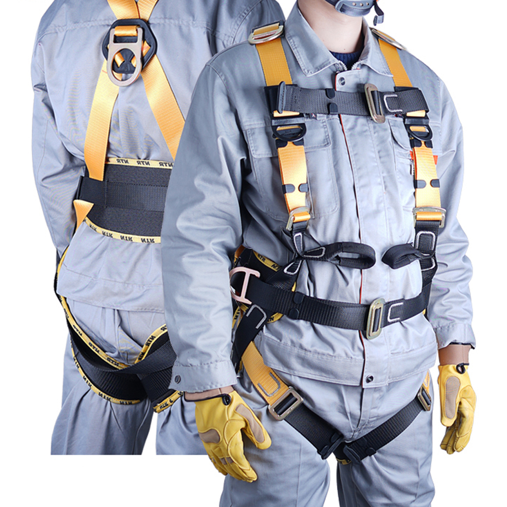 Full Body Fall Arrest Safety Harness For Climbing Caving Rappel Construction