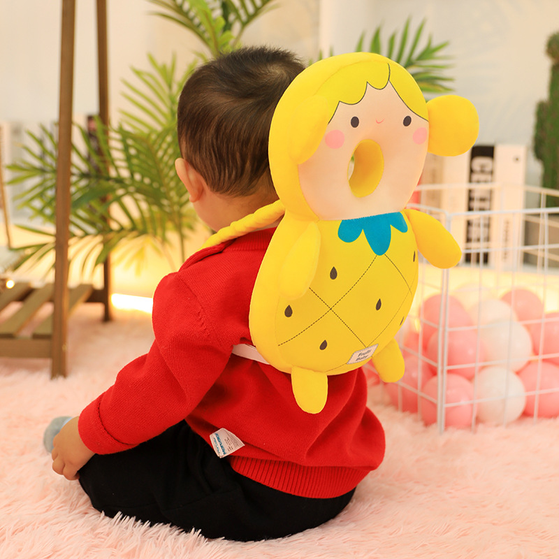 Children's Cartoon Harness Headgear Baby Toddler Anti-fall Head Back Protector Pillow Infant Safety Pad Cushion Kids Plush Toys