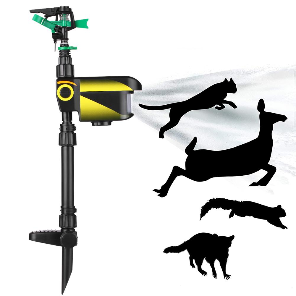 Solar Powered Motion Activated Animal Bird Mouse Repellent Garden Lawn Sprinkler