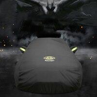 Universal capa de carro completa batman sol uv neve poeira resistente capa proteção espessa pára-sol capa acessórios do carro