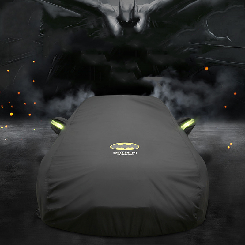 Universal Car Cover Full Car Cover Batman Sun UV Snow Dust Resistant Protection Cover Thick Sunshade Cover Car Accessories