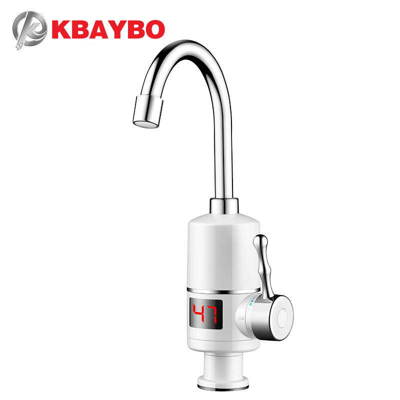 Instant Hot Water Heaters 3000W Tankless Water Heater Electric Shower Instant Electric Water Heater Heating Kitchen Bathroom