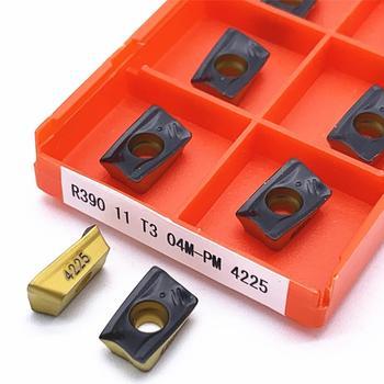 R390 11T308 M PM 1030/1025/1040/ 4240 insertos de carburo para plaquitas de final de la máquina de corte de la herramienta de corte para fresado R39011T308M
