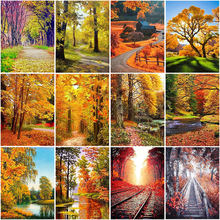 Autumn landscape diy 5d diamond painting full square/round drill