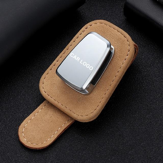 Portable Car Glasses Cases Ticket Card Clamp Car Sun Visor Sunglasses Holder For chrysler 300c 200 pacifica 4