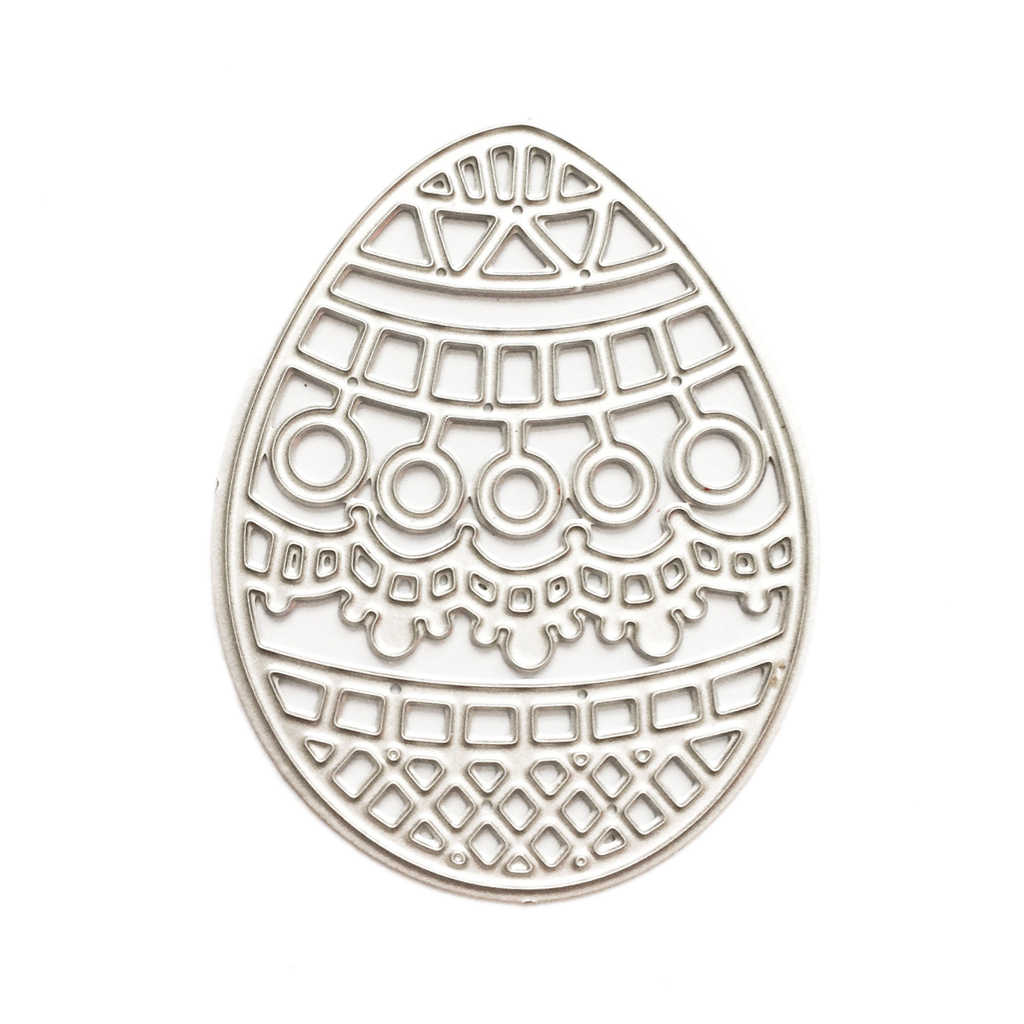 Easter Egg Metal Cutting Dies Stencil Diy Scrapbooking Album Stamp