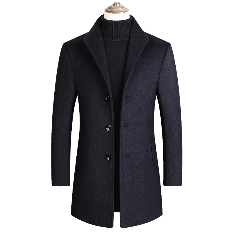 Mountainskin Men Wool Blends Coats Autumn Winter New Solid Color High Quality Men's Wool Jacket Luxurious Brand Clothing SA837 2