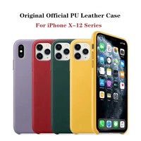 Custodia in pelle originale originale per iphone 11 pro max custodia in vera pelle PU per iPhone X XR XS Max 12 Pro Max custodia con scatola