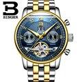 Relojes hombre 2019 военные часы Бингер Модные мужские автоматические часы с скелетом спортивные механические наручные часы relogio masculino