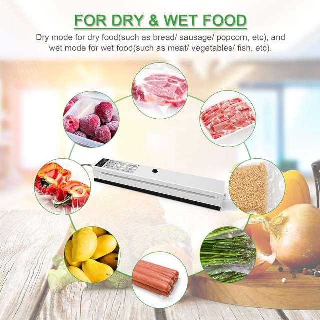 Kitchen Electric Vacuum Sealer Machine Includes 10 Pcs Food Saving Bags Vacuum Sealed 110V / 220V