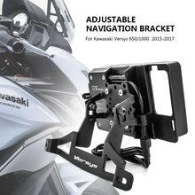 Suporte de celular para motocicleta, suporte para telefone móvel com gps, placa de navegação, para kawasaki versys 650 versys 1000 2015 2016 2017