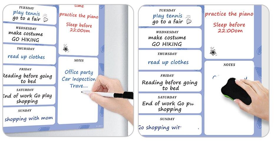 fazer lista messsge placa para geladeira de escritório em casa
