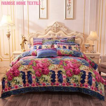 Chic Shabby Blossom Floral Print Duvet Cover set Twin Full Queen Comforter Cover Vintage Bedding set Soft Breathable Microfiber