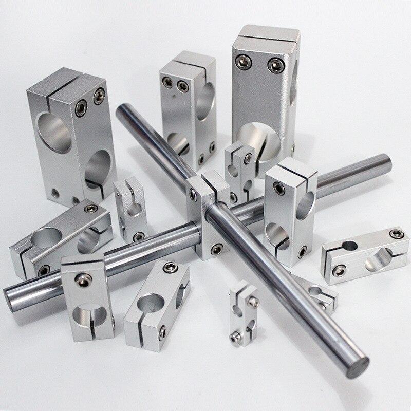 Pillar Fixing Clamp Vertical Fixed Diameter Fastening Aluminum Alloy Optical Axis Cross Block Steel Pipe Tighten Bracket