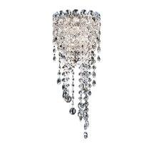 Phube iluminação led k9 cristal lâmpada de parede luz moderna arandela iluminação prata lâmpada parede frete grátis