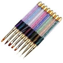 Новые инструменты для ногтей ручка для кошачьего глаза окрашенная ручка с сверлом фототерапия ручка для ногтевой фототерапии ручка инструменты для рисования ногтей 8 видов стилей