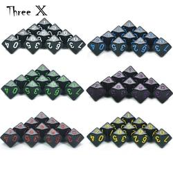 D10 набор Игральный костей-10 d10, идеально подходит для математический кубик игры-10 Двусторонняя многогранные Пластик столешница ролевой игры