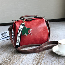 купить Women Handbag PU leather Shoulder Bag Female Doctor Crossbody Handbag Star Pendant Tassel Rivets Casual Famous Brand Women Bags дешево