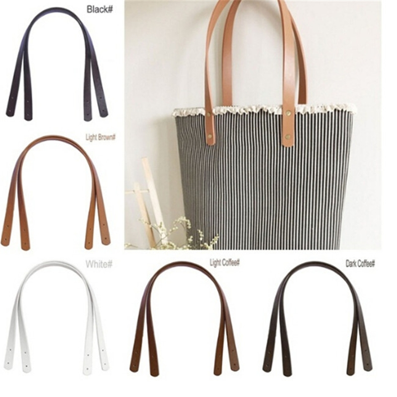 2 Pc Bag Belt Detachable PU Leather Handle Lady Shoulder Bag DIY Replacement Accessories Handbag Band Handle Strap Band