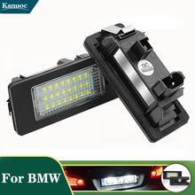 Feu de plaque d'immatriculation de voiture à 24 LED, pour Bmw e90 E82 E60 E92 E93 M3 E39 E60 E70 X5 E39 E60 E61 M5, 2 pièces