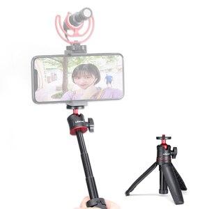 "Image 5 - צילום ulanzi MT 08 מיני להארכה שולחן העבודה חצובה כף יד סוגר Stand + Ballhead 1/4 ""בורג הר עבור Selfie נסיעות Vlog"