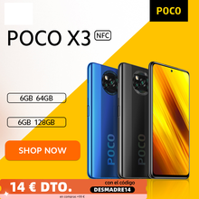 [Welt Premiere-Verkauf Auf Lager] POCO X3 NFC Globale Version Snapdragon 732G Smartphone 64MP Kamera 5160mAh 33W Ladung