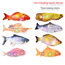 Electric Fish Usb Charging Simulation Fish Beating Fish Cat Pet Toy Cat Toys Interactive  Pet Products