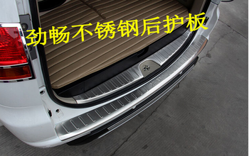 304 stainless steel Internal External Rear bumper Protector Sill Car styling for Mitsubishi Pajero Sport 2011-2015 Car styling