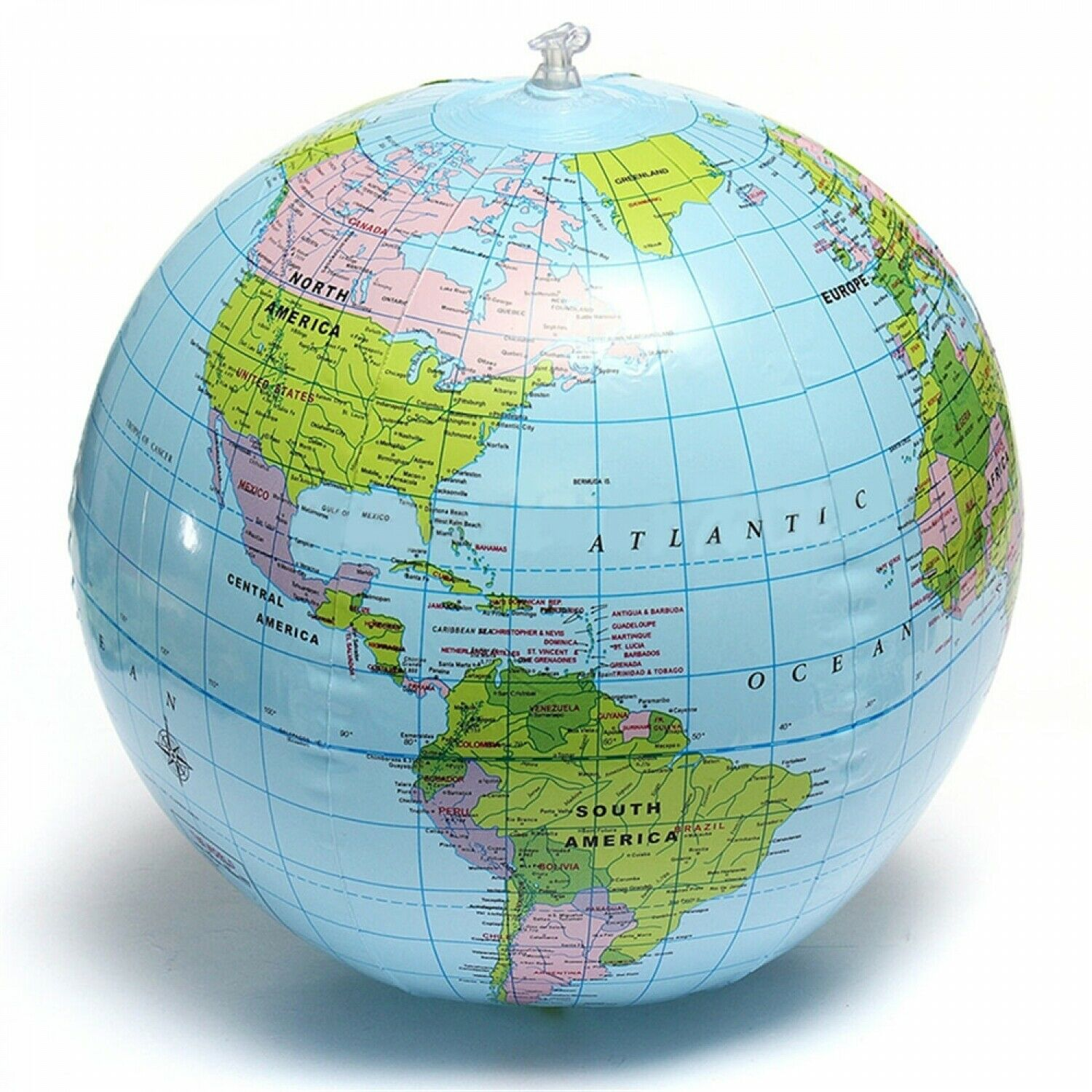 30cm Inflatable Blow Up World Globe Earth Map Ball Educational Planet Earth Ball Ocean Kid Learning Geography Toy Home 3