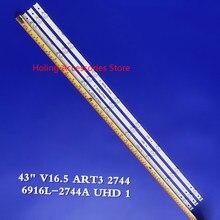 30 Pçs/set 8LED 840 milímetros tira conduzida Luz de Fundo Para 43