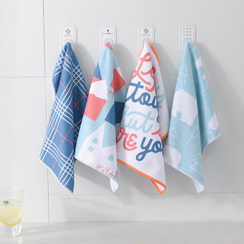 4 PCS Cleaning Cloths Rag Dishcloth Absorbent Microfiber Washing Dishs Kitchen Window Supplies Double Side Car Towel Cleaning фото