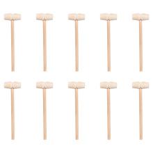 25 sztuk drewna Mini kruszarka drewniany krab młotek planeta ciasto młotek (kolor dziennika) tanie tanio CN (pochodzenie) Wooden Hammers Mini Beat Hammers Mini Mallet Mini Beat Mallet Wooden Beat Hammers