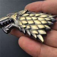 car sticker Rhino Tuning Game of Thrones House Stark Direwolf Family Totem Metal Car Badge Emblem Sticker Fit Silverado F-Series Escape (5)