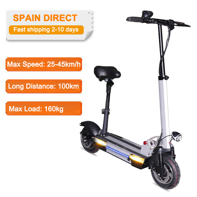 EU Direct Electric Scooter Powerful 45km/h Max 48V 26AH adult e scooter with seat foldable electric skateboard patinete eletrico