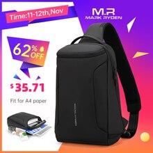 2020 New Men Crossbody Bag Fits 12inch iPad Shoulder Messenger Bags Male Waterproof USB Recharging Sling bag