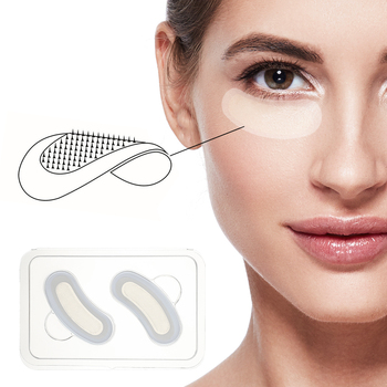 5 Pairs Hyaluronic Acid Microneedle Eye Pacthes Essence Moisturizing Anti Wrinkles Forehead Fine Lines Dark Circles Eye Mask Gel 1