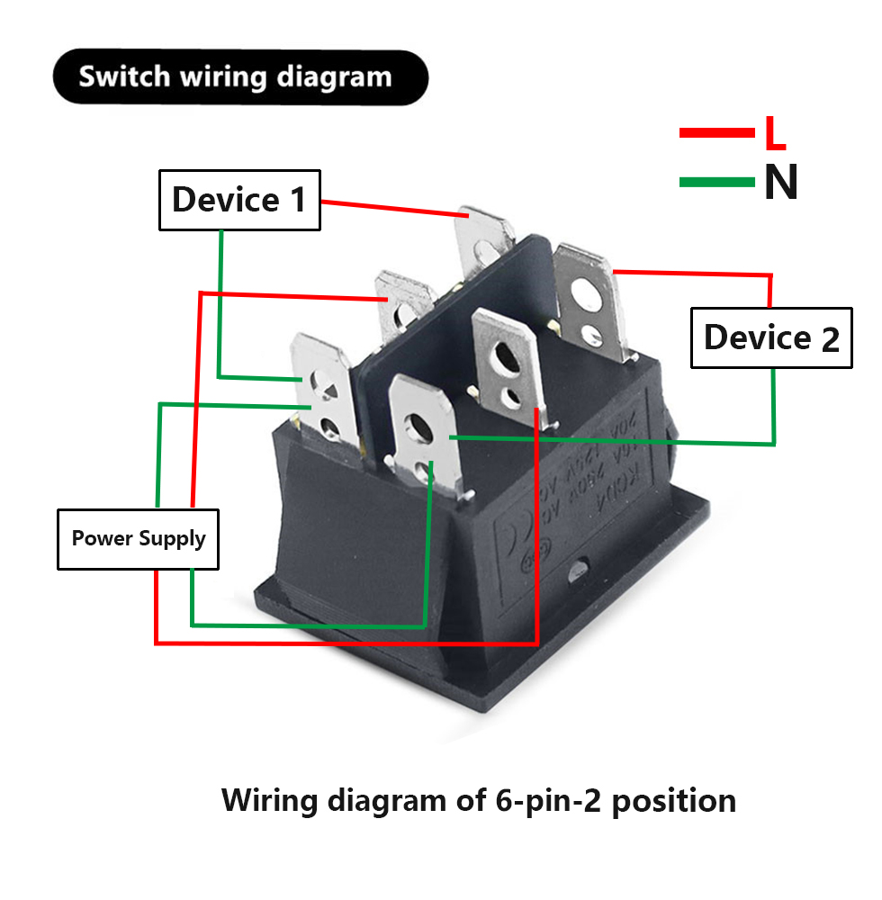 Kcd4 Rocker Switch On Off 2 Position 4 Pins 6 Pins Electrical Equipment With Light Power Switch Switch Cap 16a 250vac 20a 125v On Off Rocker Switch Spst Rocker Switchspst Switch Aliexpress