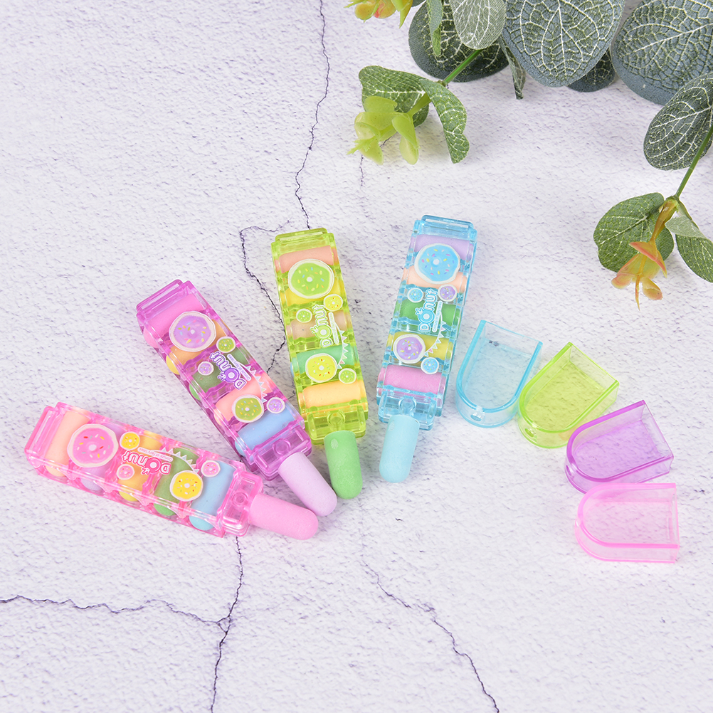 Creative Lovely Bullet Rubber Eraser Can Replace Type Children Art Drawing School Supplies Stationery