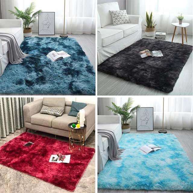 Bedroom Carpets Modern Art Living Room Carpets Home Nordic Bedroom Bedside Blanket Area Rug Large Soft Study Room Floor 2