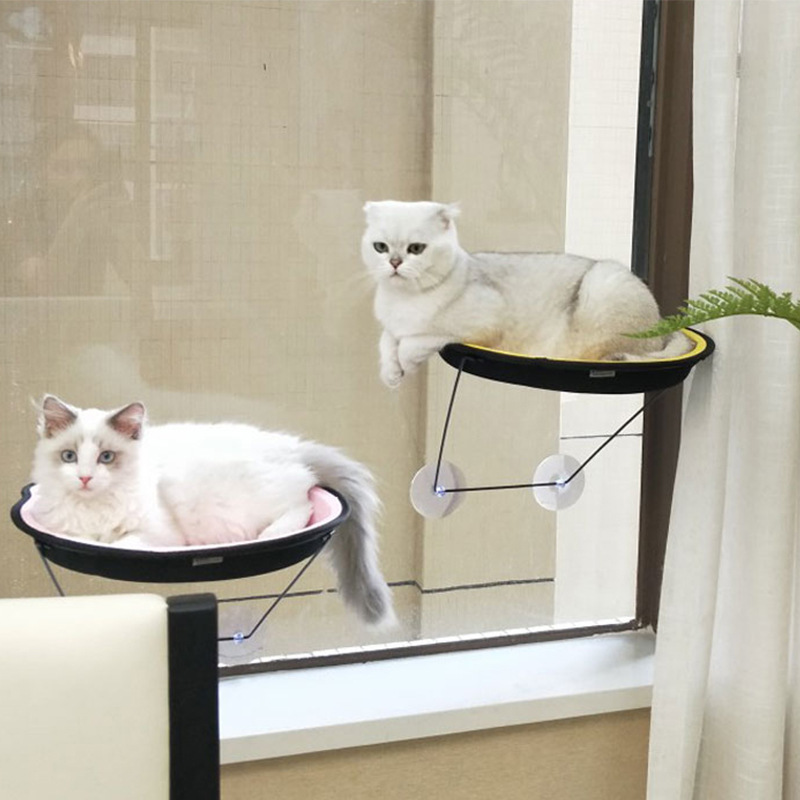 Cute Pet Hanging Beds Bearing 20kg Cat Sunny Seat Window Mount Pet Cat Hammock Comfortable Cat Pet Bed Cats Products For Pets